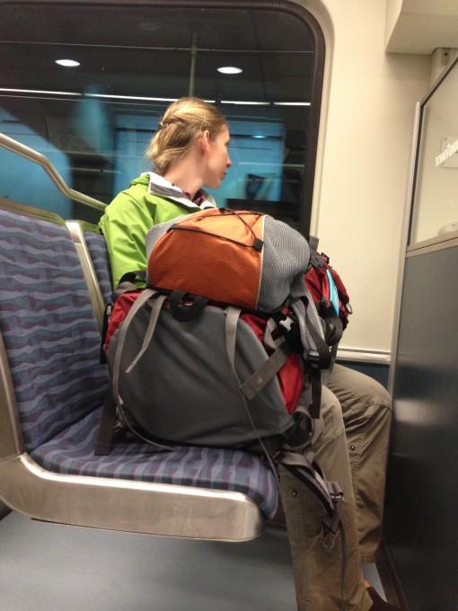 On the train from Dublin to Killarney