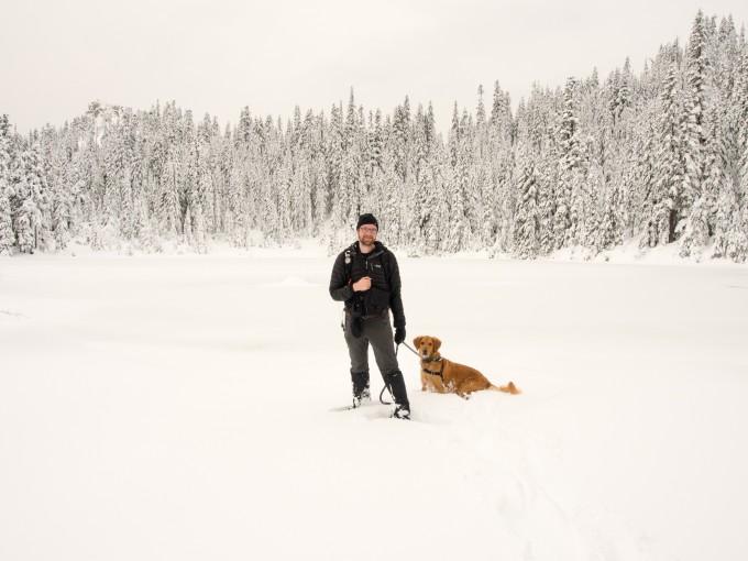 Bobby and Latigo at the Lake
