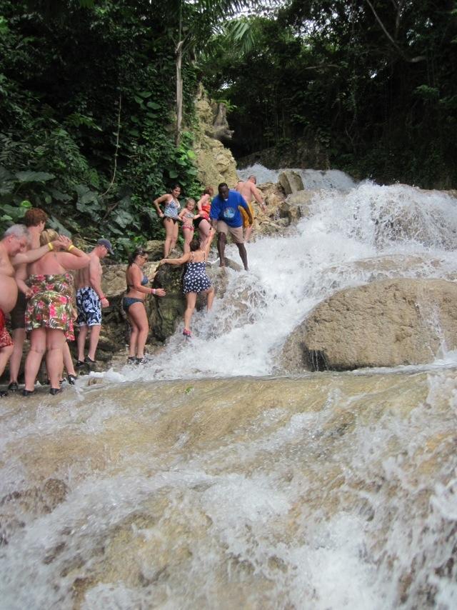 Climbing the Falls!