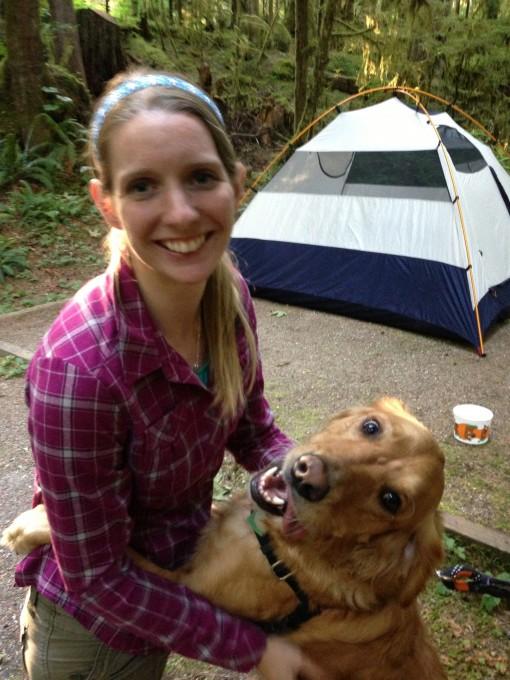 Dancing while camping!