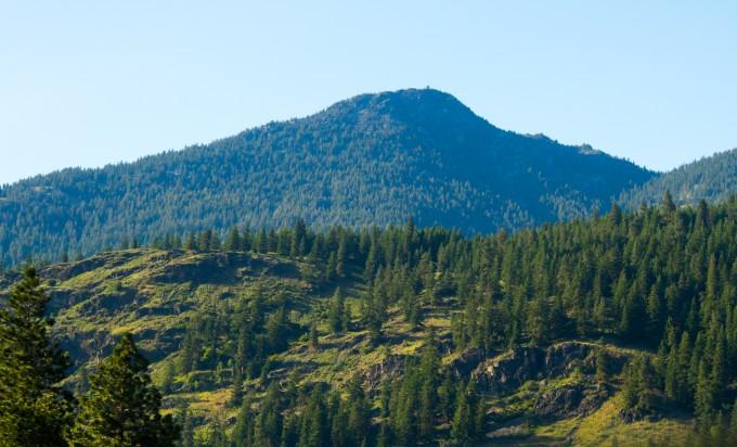 Goat Peak Lookout as seen from Highway 20 near Mazama
