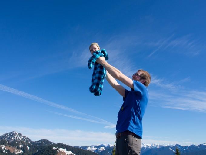 Jack's first summit at 7 months