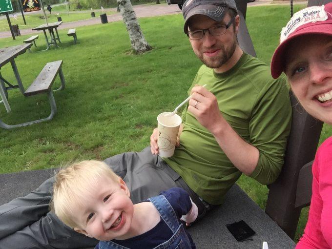 Happy family ice cream selfie!